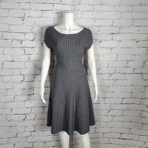 Hugo Boss Gray Knit Sweater Dress